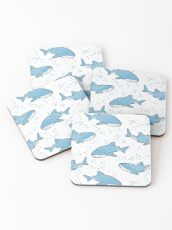 Starry Whale Sharks (Light version) Coasters