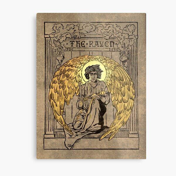 El Cuervo. Portada de la edición de 1884 Lámina metálica