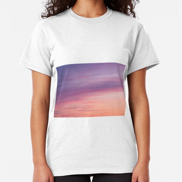 Colorful sunset clouds at dusk sky scape Classic T-Shirt