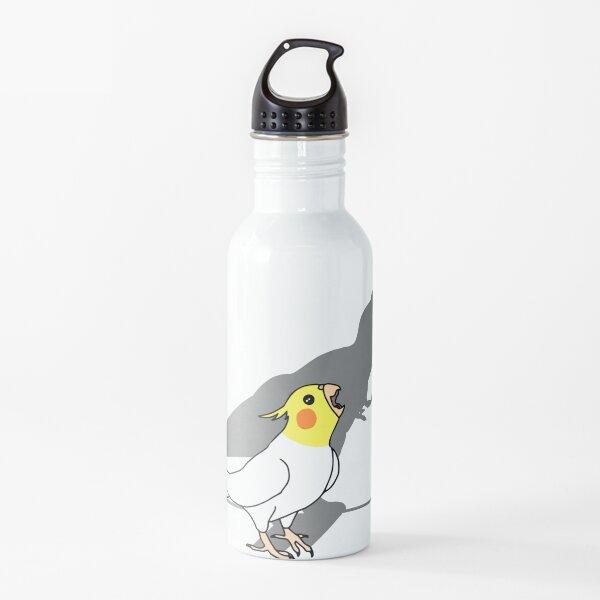 t-rex dinosaur shadow - white yellow cockatiel Water Bottle