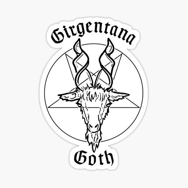 Girgentana Goth - Capra Girgentana Gotica Sticker