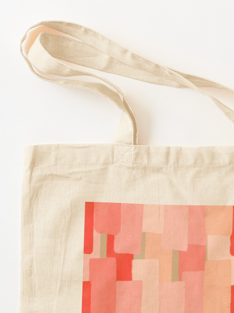 Alternate view of Like In Coral #redbubble #abstractart Tote Bag