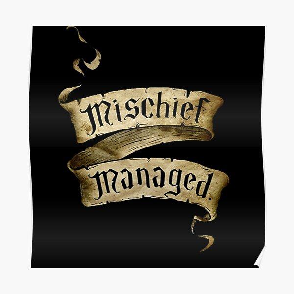Mischief Managed Banner Poster