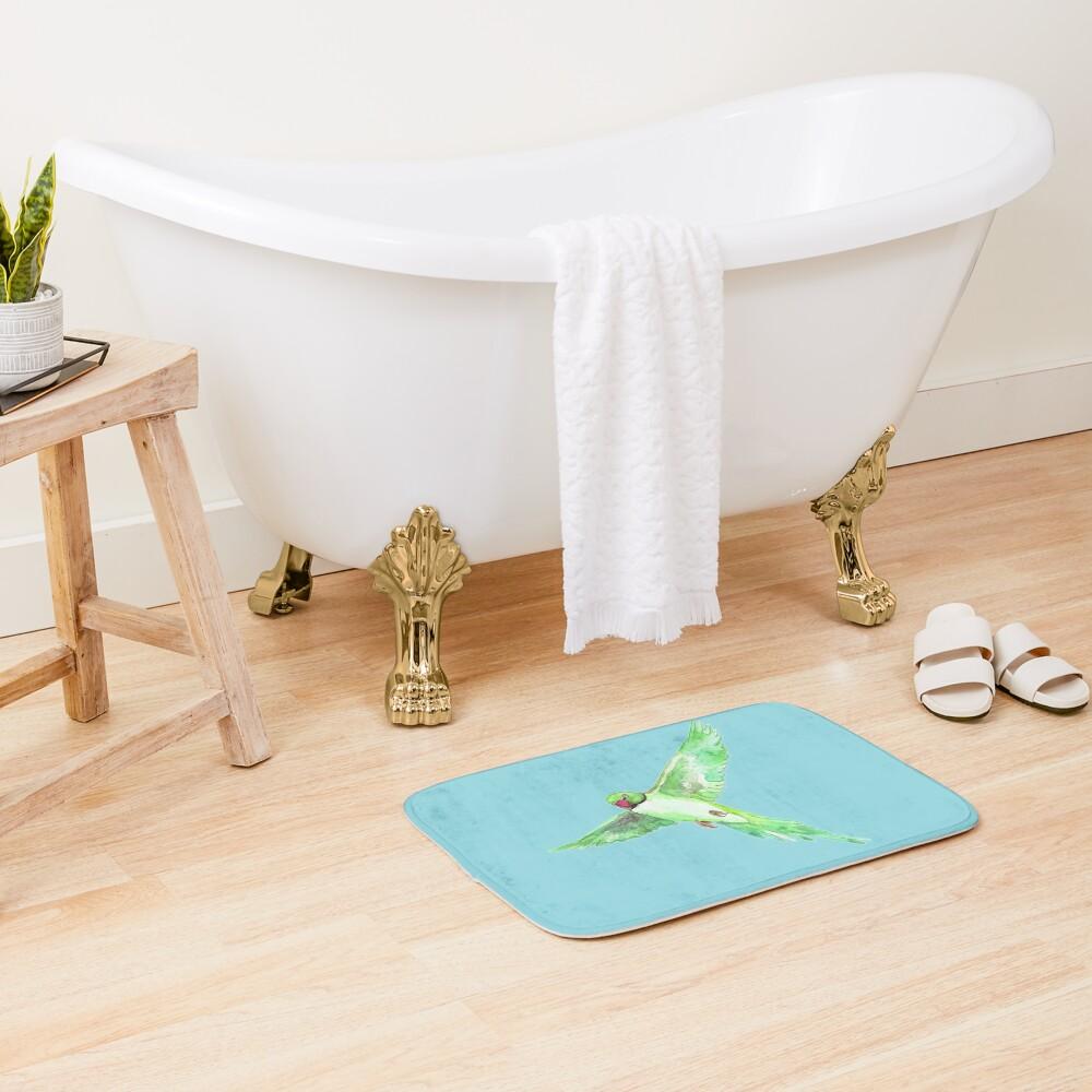 Indian Ringneck Parakeet Bath Mat