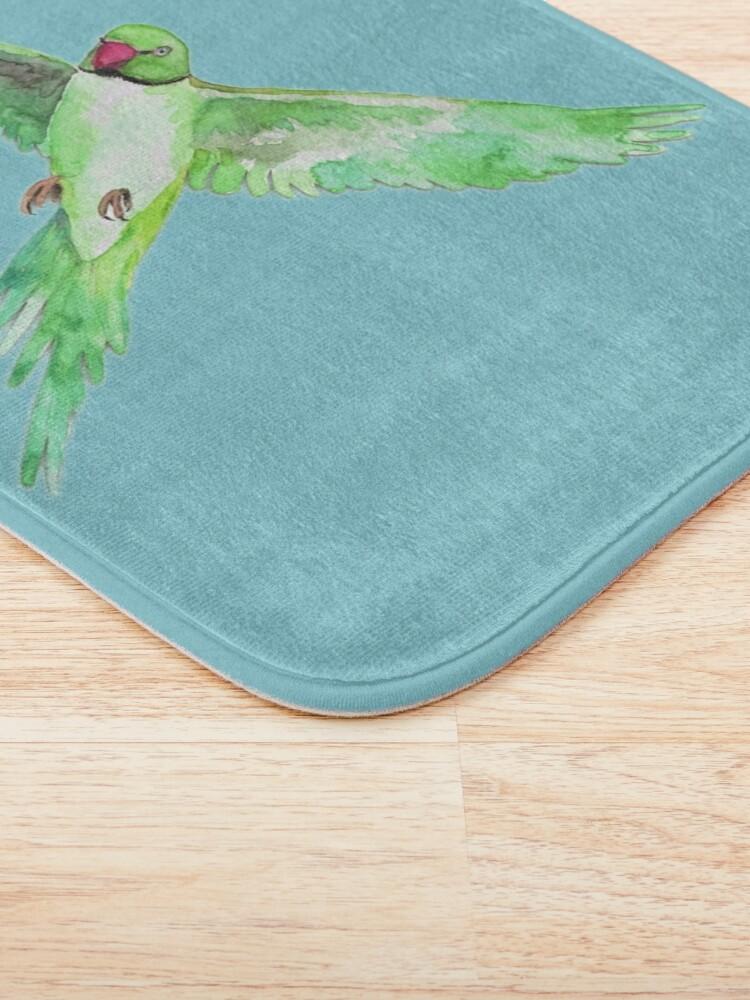 Alternate view of Indian Ringneck Parakeet Bath Mat