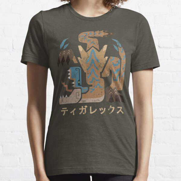 Monster Hunter World Iceborne Tigrex Kanji Icon Essential T-Shirt