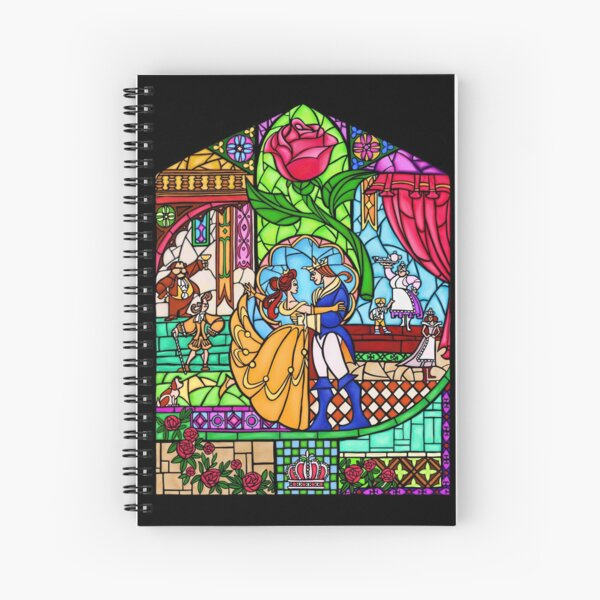 Patterns of the Stained Glass Window Spiral Notebook