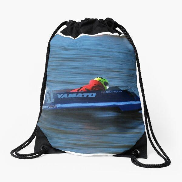 Powerboat Racing at Oulton Broad - OSY400 Yamato Class - Sean Woods Drawstring Bag
