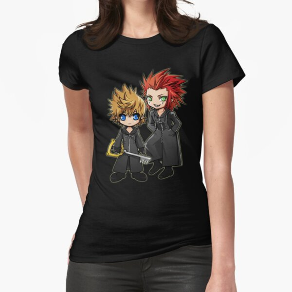 Roxas and Axel - Kingdom Hearts Fitted T-Shirt