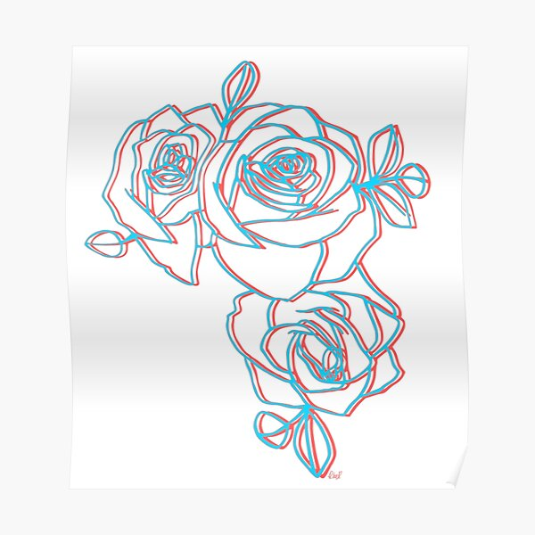 Halsey Roses Poster