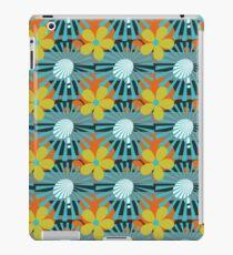 Retro Sunburst Flower Pattern iPad Case/Skin