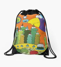 Unexpected guest Drawstring Bag