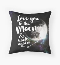 Love you to the Moon & back again Throw Pillow