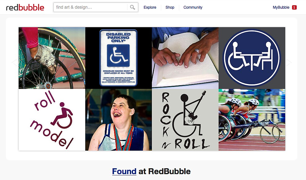 International Day of Persons with Disabilities - 3 December 2010 by The RedBubble Homepage