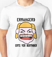 Ermahgerd herper berthder geek funny nerd T-Shirt