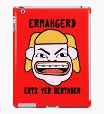 Ermahgerd herper berthder geek funny nerd iPad Case/Skin