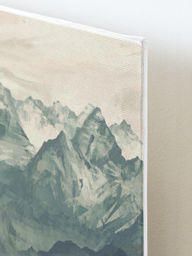 Alternate view of Mountain Fog Mounted Print