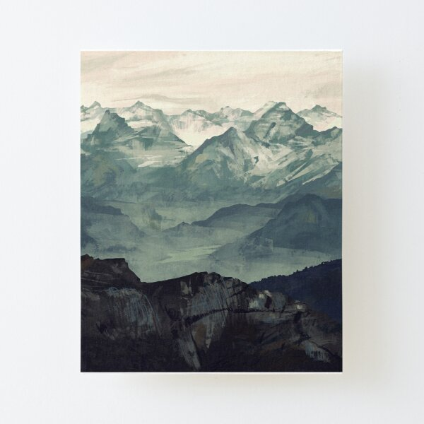 Mountain Fog Canvas Mounted Print