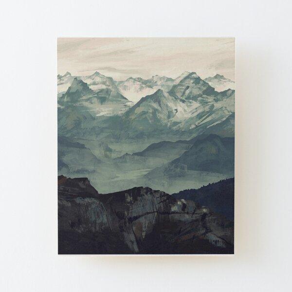 Mountain Fog Wood Mounted Print