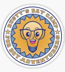 rusty's day camp for boy adventurers Sticker