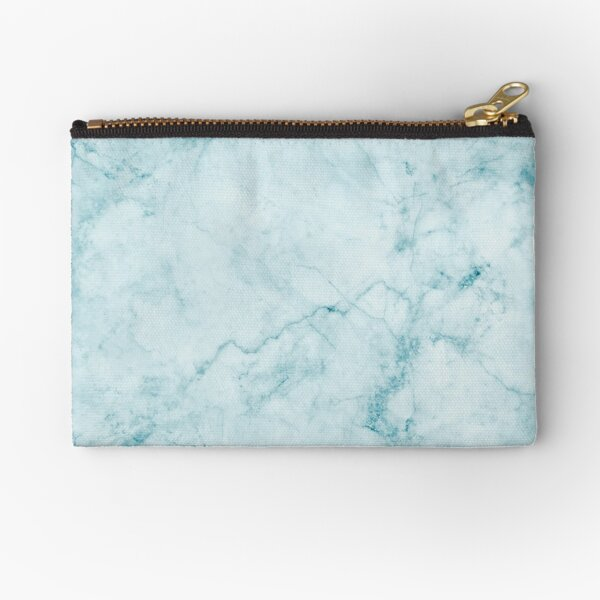 Blue Marble Print Zipper Pouch