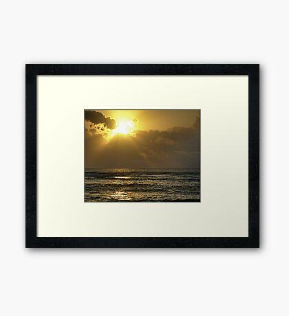 Sunrise over the Caribbean Framed Print