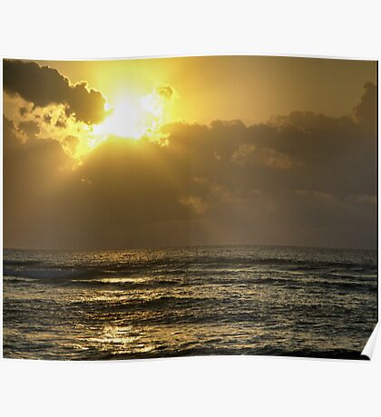 Sunrise over the Caribbean Poster