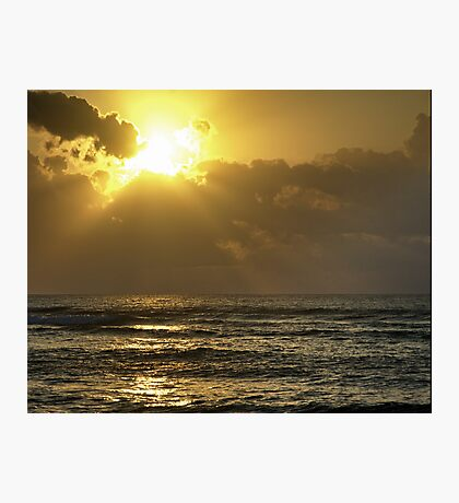 Sunrise over the Caribbean Photographic Print