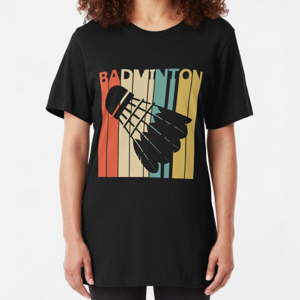 Vintage Badminton Slim Fit T-Shirt