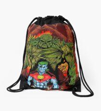 Swamp Thing vs. Captain Planet - by Christian Martinez Drawstring Bag