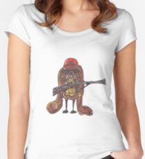 The rabbitish hunter Women's Fitted Scoop T-Shirt