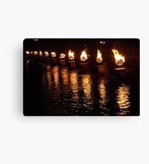 Waterfire Canvas Print