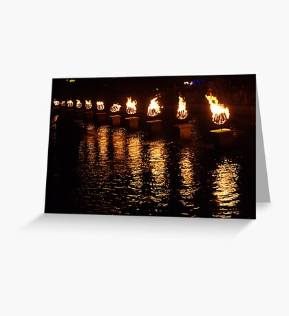Waterfire Greeting Card