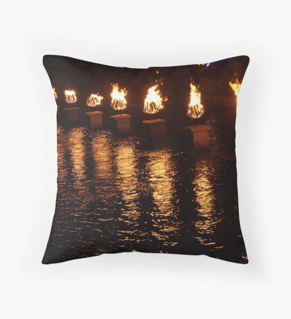 Waterfire Throw Pillow