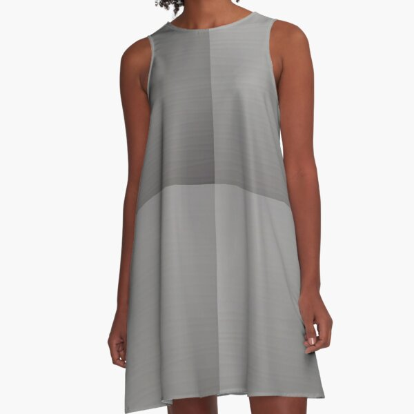 #Gray A-Line Dress