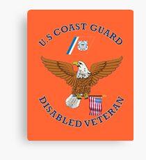 US Coast Guard Disabled Veteran Eagle Shield Canvas Print