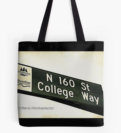 North 160th Street & College Way, Shoreline, WA by MWP Tote Bag