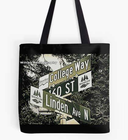 Linden Avenue North, 160th Street, & College Way, Shoreline, WA by MWP Tote Bag