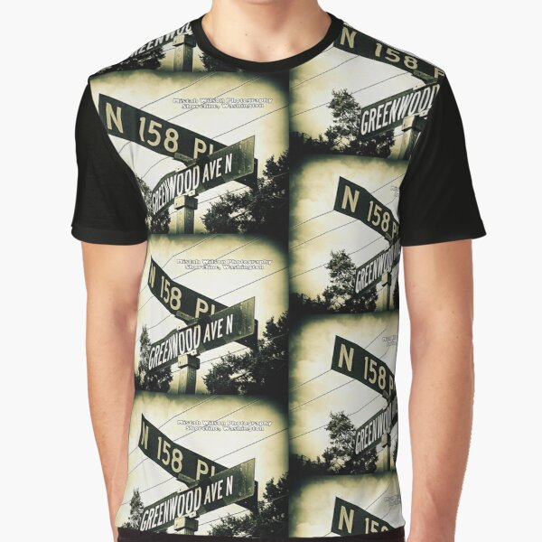 North 158th Place & Greenwood Avenue, Shoreline, WA by MWP Graphic T-Shirt