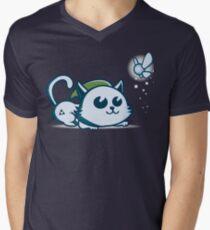 Purty Link! T-Shirt mit V-Ausschnitt