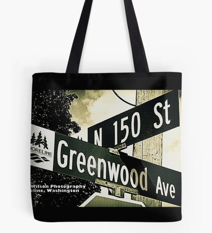 Greenwood Avenue & North 150th Street, Shoreline, WA by MWP Tote Bag