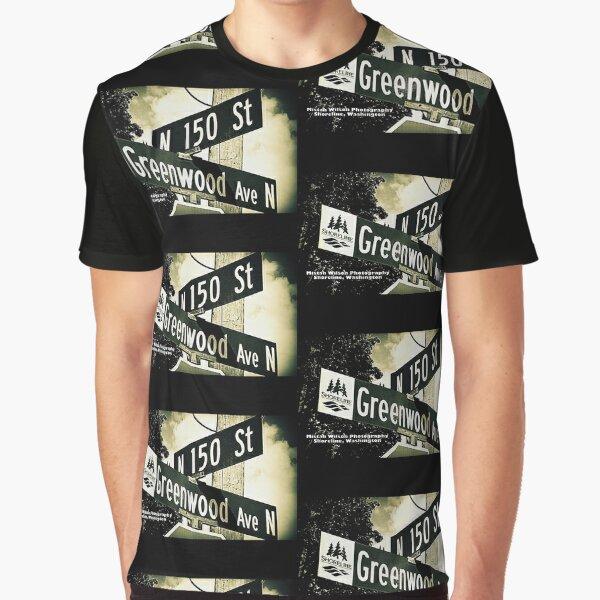 Greenwood Avenue & North 150th Street, Shoreline, WA by MWP Graphic T-Shirt