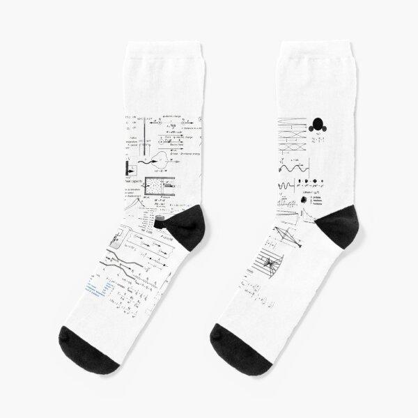 Physics Prints,  Physics Equations - Physics Formulas Socks