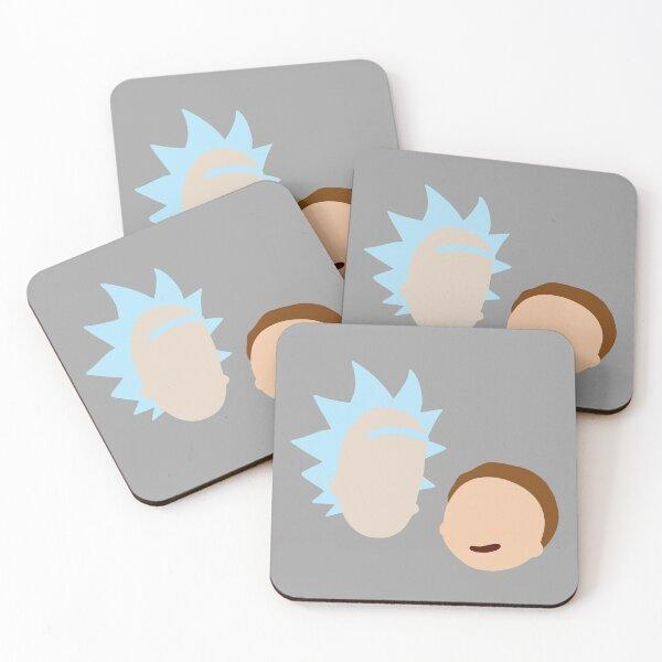 Minimal Rick and Morty Coasters (Set of 4)