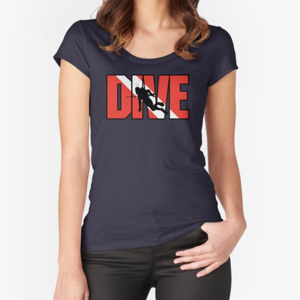 SCUBA Dive Fitted Scoop T-Shirt