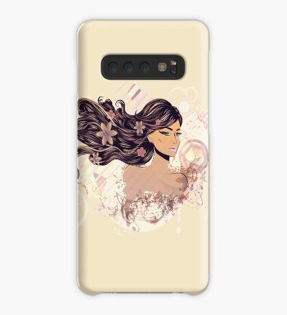 Musik Mädchen 2 Hülle & Klebefolie für Samsung Galaxy