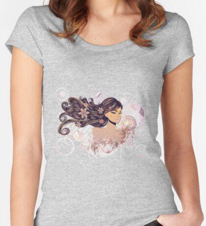 Musik Mädchen 2 Tailliertes Rundhals-Shirt