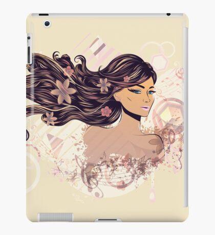 Musik Mädchen 2 iPad-Hülle & Klebefolie