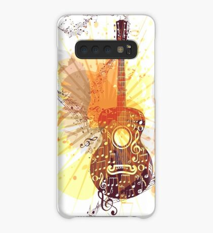 Musik Poster mit Gitarre 5 Hülle & Klebefolie für Samsung Galaxy