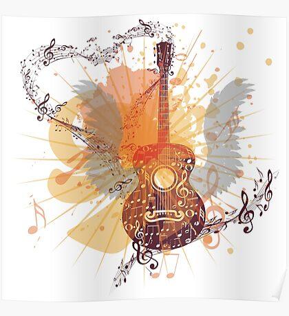 Musik Poster mit Gitarre 5 Poster